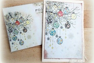 Hand made papierové vianočné pohľadnice